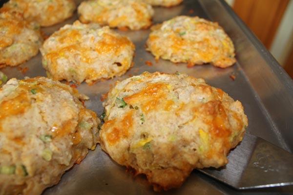 Cheddar Zucchini Drop Biscuits