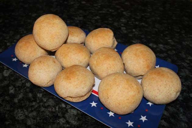 photo of homemade hamburger buns