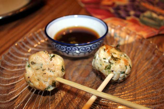 Vietnamese Meatball lollipops