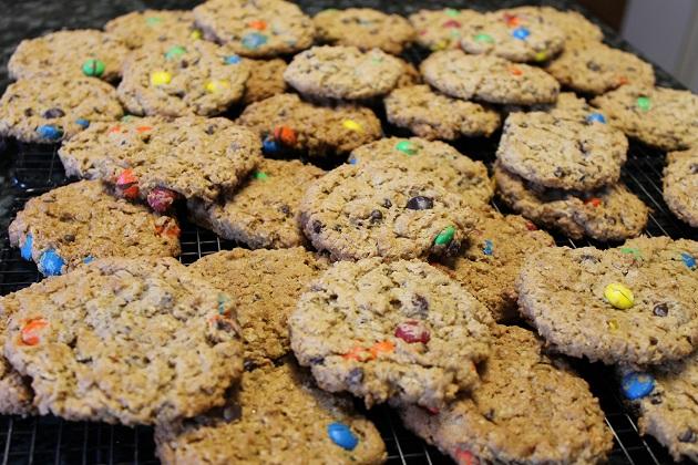 flourless oatmeal monster cookies